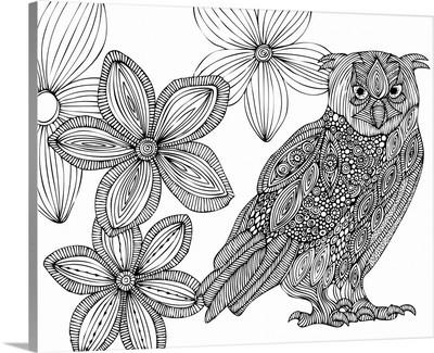 Matt the Owl - Black and White