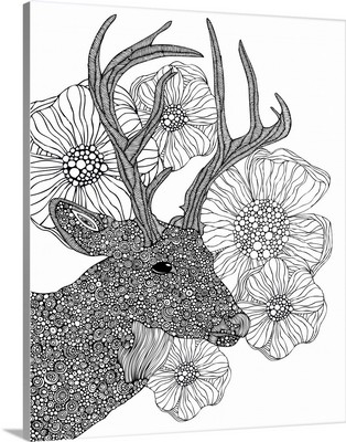 My Dear Deer - Black and White