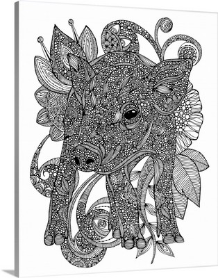 Paisley Piggy - Black and White
