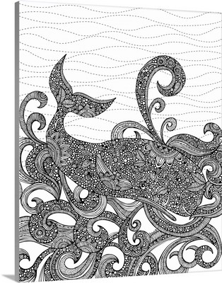 Whale - Black and White