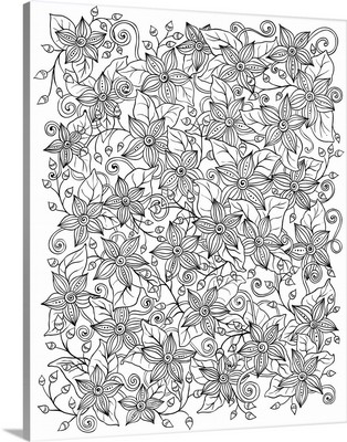 Flowers and Vines I