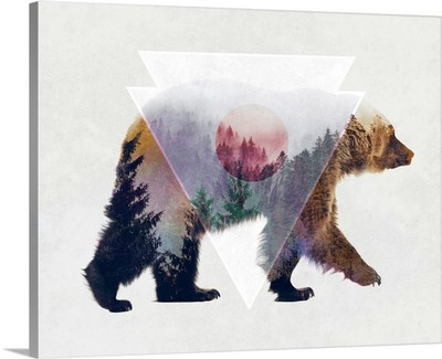 Bear Double Exposure Wildlife Art