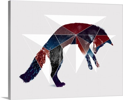 Fox Double Exposure Wildlife Art I