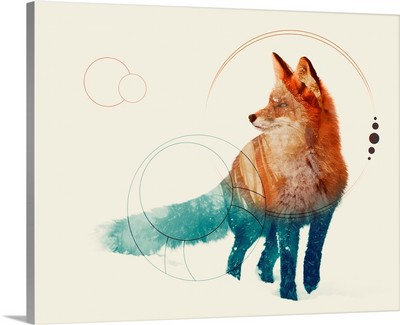 Fox Double Exposure Wildlife Art II