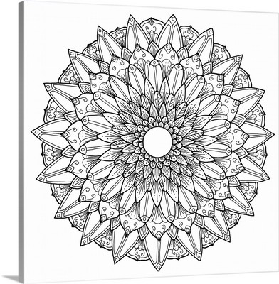 Hand Drawn Mandala XI