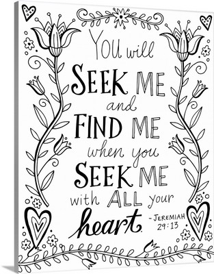 You Will Seek Me and Find Me
