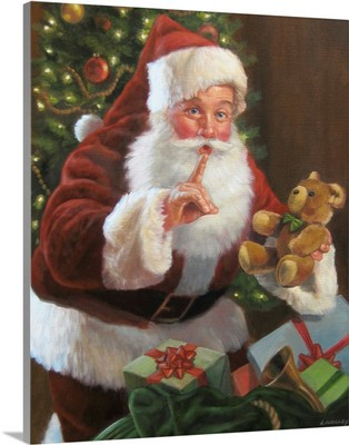 Santa With Teddy Bear