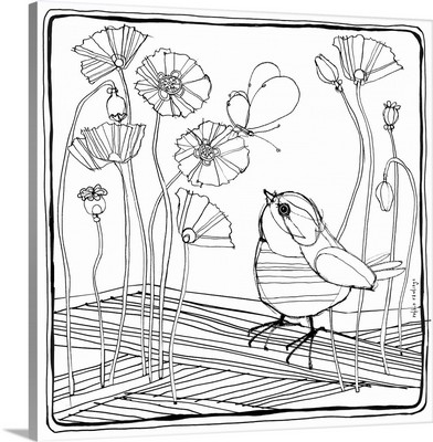 Wee Robin and Poppies