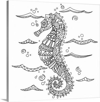 Color Me - Seahorse