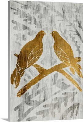 Two Turtle Doves - Gold Leaf Holiday