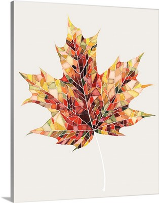 Fall Mosaic Leaf III