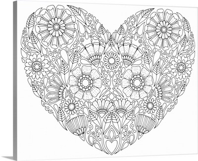 Valentine's Floral Heart