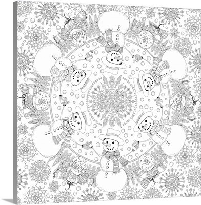 Frosty the Snowman Mandala