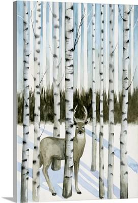 Deer in Snowfall I