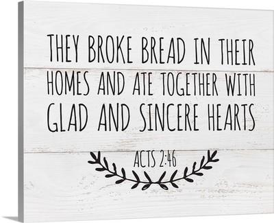 Modern Faith - Acts 2:46