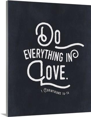 Handlettered Bible Verse - Corinthians 16:14