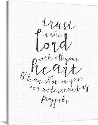 Handlettered Bible Verse - Proverbs 3:5