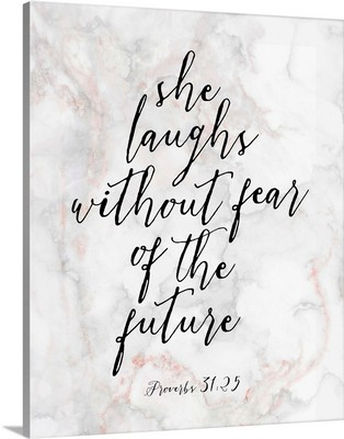 Handlettered Bible Verse - Proverbs 31:25