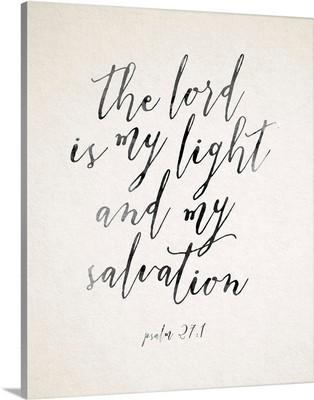 Handlettered Bible Verse - Psalm 27:1