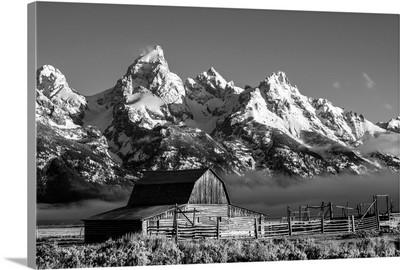Historic John Moulton Barn along Mormon Row in Grand Teton National Park, Wyoming