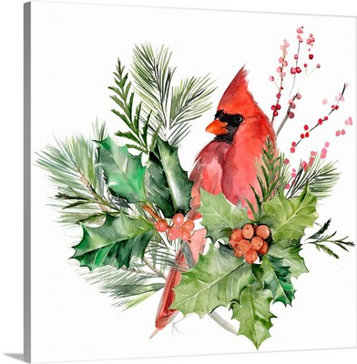 Cardinal Holly Christmas  I