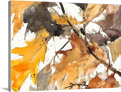 Watercolor Autumn Leaves I
