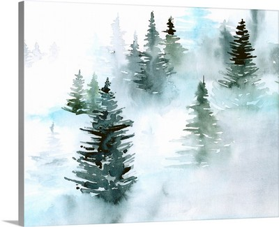 Foggy Evergreens I