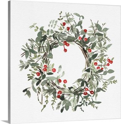 Holly Farmhouse Wreath I
