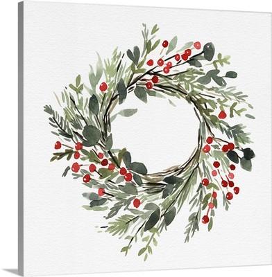 Holly Farmhouse Wreath II