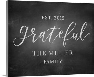 Chalkboard - Grateful