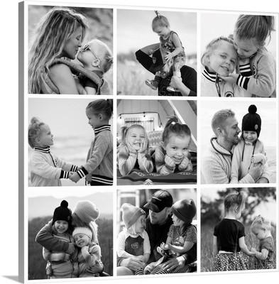 Photo Collage Square White