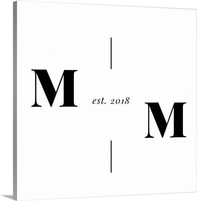 Vertical Line Monogram