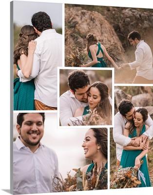 Square Photo Collage White