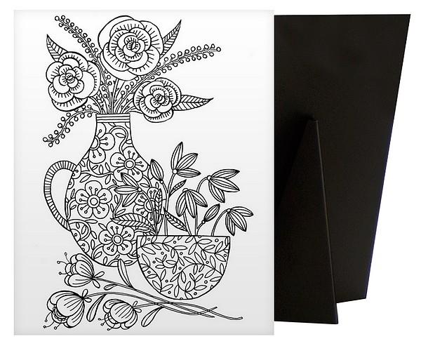 Colour Me Pretty - Flowers | Coloring Canvas - Canvas On Demand
