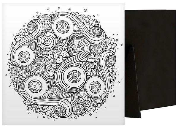 Circular Swirls | Coloring Canvas - Canvas On Demand