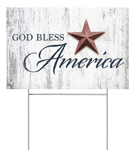 God Bless Star | Yard Signs - Canvas On Demand®