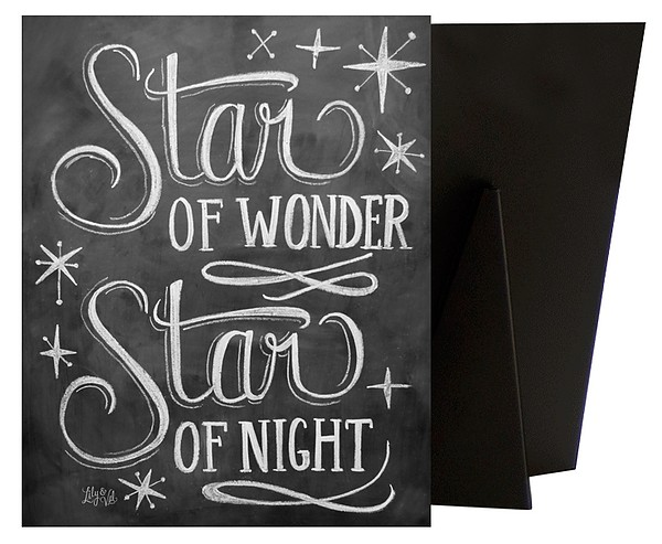 Star of Wonder Handlettering | Christmas Wall Art - Canvas On Demand®