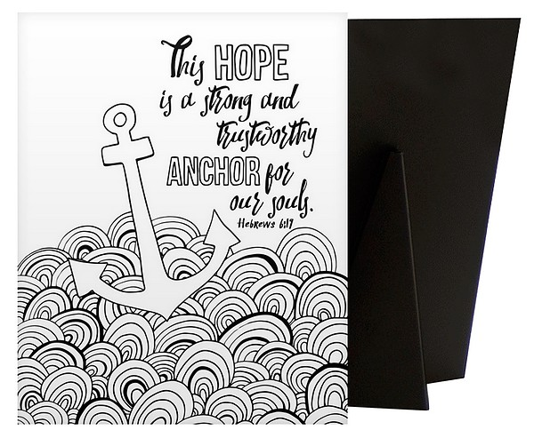 Anchor For Our Souls - Hebrews 6 19 | Coloring Canvas - Canvas On Demand