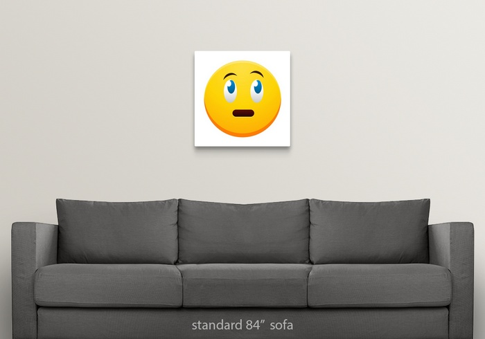 Nervous Emoji Wall Art, Canvas Prints, Framed Prints, Wall