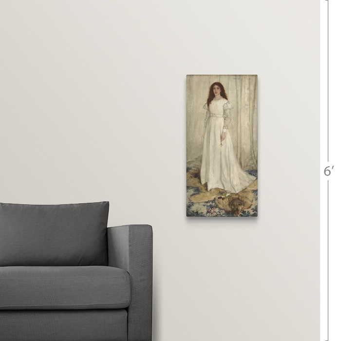 Symphony in White, No  1: The White Girl, 1862 Wall Art, Canvas