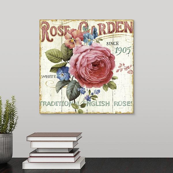 Rose Garden I   Outdoor Canvas Wall Art - Canvas On Demand
