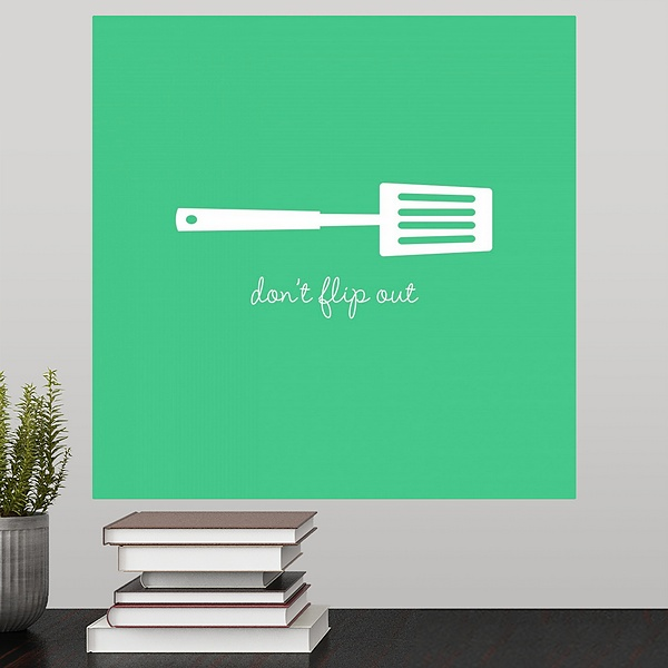 don't flip out - minimalist retro kitchen art | kitchen wall art