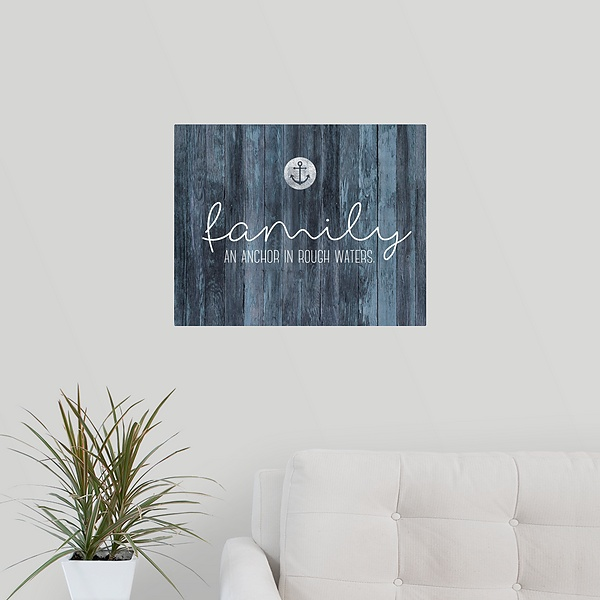 Family Quotes Family Anchor Family Sayings Canvas On Demand