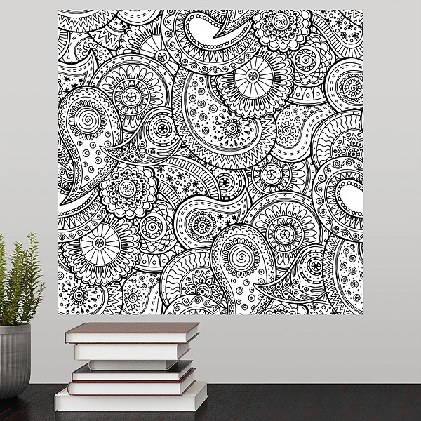 Paisley Swirl II | Coloring Canvas - Canvas On Demand