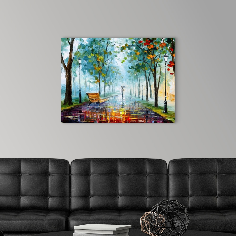 Long Fog Wall Art Canvas Prints, Long Painting For Living Room