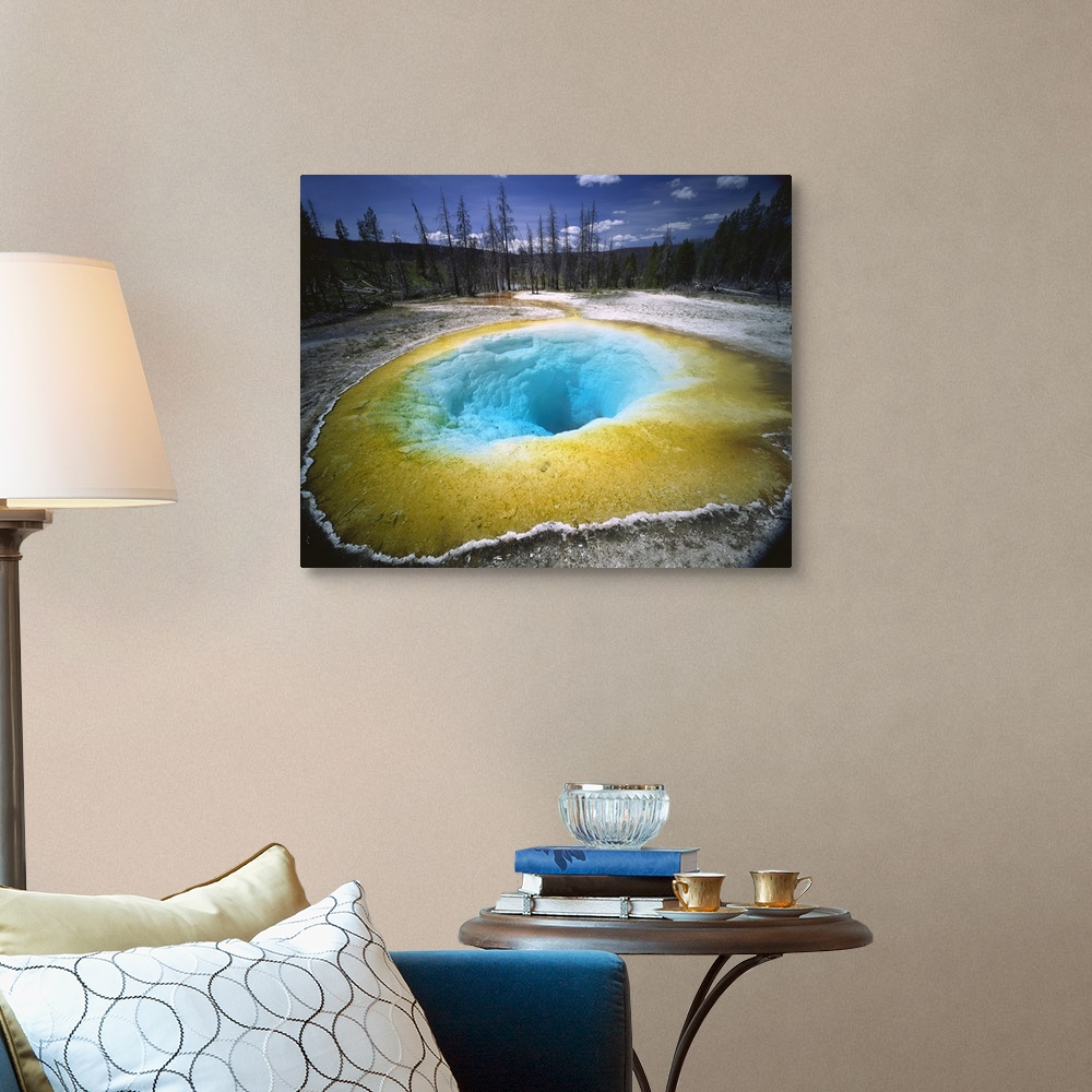 Wyoming Yellowstone National Park Morning Glory Pool Thermal Pool In The Park Wall Art Canvas Prints Framed Prints Wall Peels Great Big Canvas